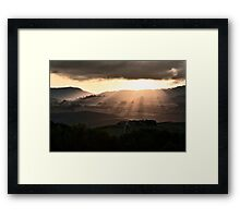 Sunset in Val 'Orcia Framed Print