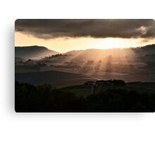 Sunset in Val 'Orcia Canvas Print