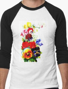 """FLOWER SEED"" Catalogue Advertising Print Men's Baseball ¾ T-Shirt"