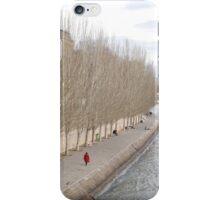Lady in red coat iPhone Case/Skin