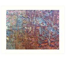 Layers of Peeling Paint Art Print
