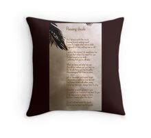 passing clouds Throw Pillow