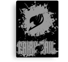 Fairy Tail Splash #2 Version (Grey) Canvas Print