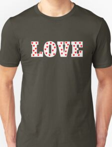 Love with Heart Pattern Unisex T-Shirt