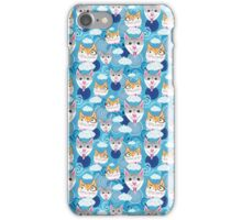 pattern funny portraits of dogs and cats iPhone Case/Skin