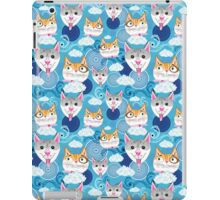 pattern funny portraits of dogs and cats iPad Case/Skin