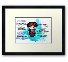Dr. Spencer Reid Framed Print