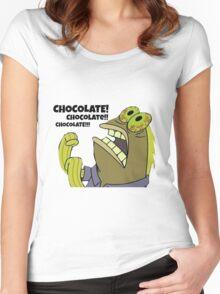 Chocolate Spongebob Women's Fitted Scoop T-Shirt