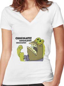 Chocolate Spongebob Women's Fitted V-Neck T-Shirt