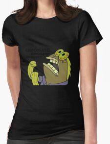 Chocolate Spongebob Womens Fitted T-Shirt