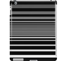 Black and White Radiating Pin Stripes iPad Case/Skin
