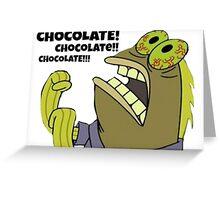 Chocolate Spongebob Greeting Card