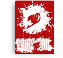 Fairy Tail Splash #2 Version (White) Canvas Print
