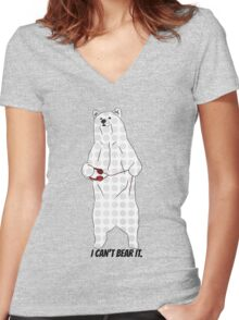 I can't bear it. Women's Fitted V-Neck T-Shirt