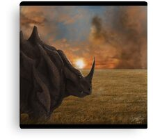 Rhyhorn Pokemon Canvas Print