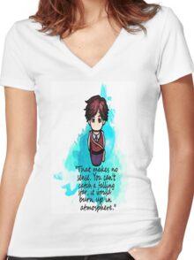 Dr. Spencer Reid Women's Fitted V-Neck T-Shirt