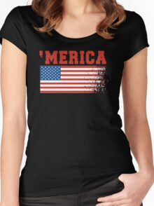 'Merica Women's Fitted Scoop T-Shirt