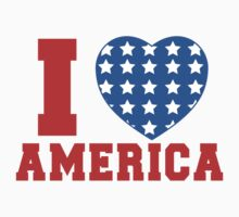 I Heart America Flag Kids Clothes