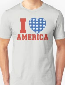 I Heart America Flag T-Shirt