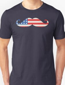 USA Flag Moustache T-Shirt