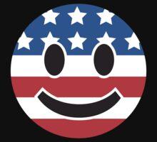 USA Smiley Face Baby Tee