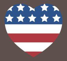 USA Heart Flag One Piece - Short Sleeve