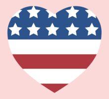 USA Heart Flag Baby Tee