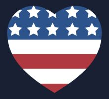 USA Heart Flag by CarbonClothing