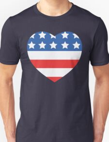 USA Heart Flag T-Shirt