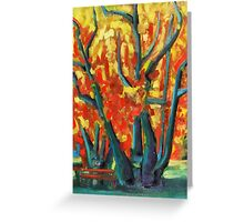 Fauvist Tree Greeting Card