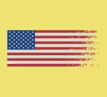 America Graffiti Flag One Piece - Short Sleeve
