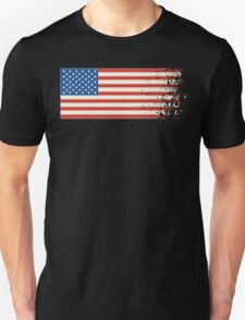 America Graffiti Flag Unisex T-Shirt