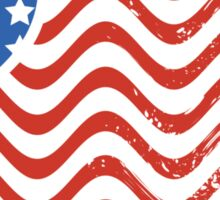Wavy America Heart Flag Sticker