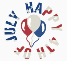 Happy 4th Of July Balloons Kids Clothes