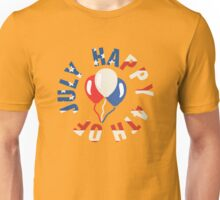 Happy 4th Of July Balloons Unisex T-Shirt