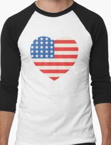 America Flag Heart 4th Of July T-Shirt