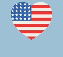 America Flag Heart 4th Of July Unisex T-Shirt
