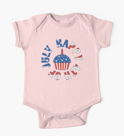 Happy 4th Of July Cupcake One Piece - Short Sleeve