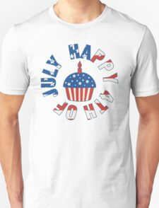 Happy 4th Of July Cupcake T-Shirt