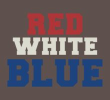 Red, White & Blue USA Baby Tee