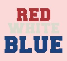 Red, White & Blue USA One Piece - Short Sleeve