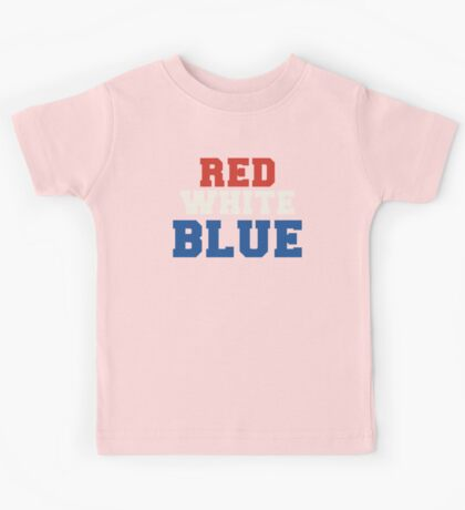 Red, White & Blue USA Kids Tee