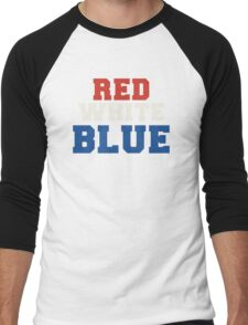 Red, White & Blue USA Men's Baseball ¾ T-Shirt