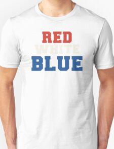 Red, White & Blue USA Unisex T-Shirt
