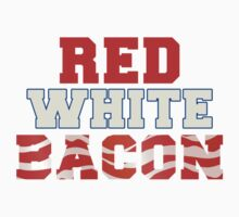 Red, White & Bacon Kids Tee
