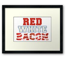 Red, White & Bacon Framed Print