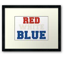 Red, White & Blue USA Framed Print