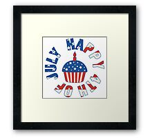 Happy 4th Of July Cupcake Framed Print