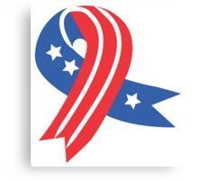 USA Ribbon 4th of July Canvas Print