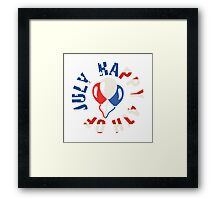 Happy 4th Of July Balloons Framed Print